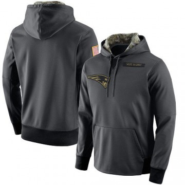 Men's Nike New England Patriots Anthracite Salute to Service Player Performance Hoodie -