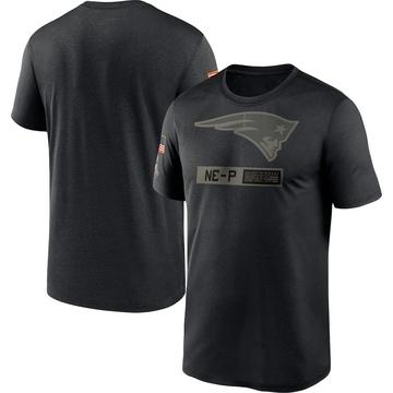 Men's Nike New England Patriots Black 2020 Salute to Service Team Logo Performance T-Shirt -