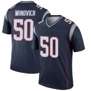Men's Nike New England Patriots Chase Winovich Navy Jersey - Legend