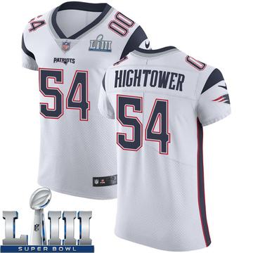 Men's Nike New England Patriots Dont'a Hightower White Super Bowl LIII Vapor Untouchable Jersey - Elite
