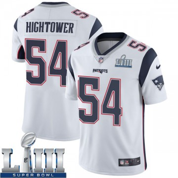 Men's Nike New England Patriots Dont'a Hightower White Super Bowl LIII Vapor Untouchable Jersey - Limited