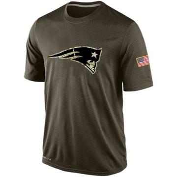 Men's Nike New England Patriots Olive Salute To Service KO Performance Dri-FIT T-Shirt -