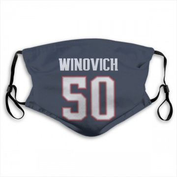 New England Patriots Chase Winovich Navy Jersey Name & Number Face Mask