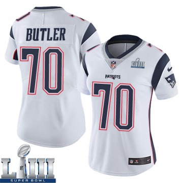 Women's Nike New England Patriots Adam Butler White Super Bowl LIII Vapor Untouchable Jersey - Limited