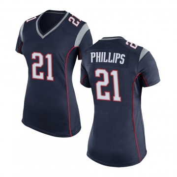 Women's Nike New England Patriots Adrian Phillips Navy Blue Team Color Jersey - Game