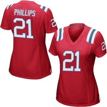 Women's Nike New England Patriots Adrian Phillips Red Alternate Jersey - Game