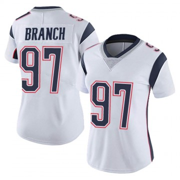 Women's Nike New England Patriots Alan Branch White Vapor Untouchable Jersey - Limited