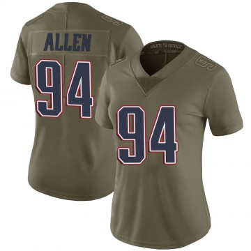 Women's Nike New England Patriots Beau Allen Green 2017 Salute to Service Jersey - Limited