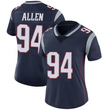 Women's Nike New England Patriots Beau Allen Navy 100th Vapor Jersey - Limited