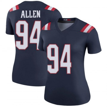 Women's Nike New England Patriots Beau Allen Navy Color Rush Jersey - Legend
