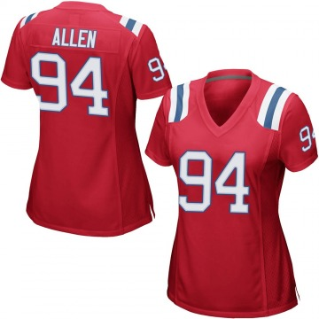 Women's Nike New England Patriots Beau Allen Red Alternate Jersey - Game