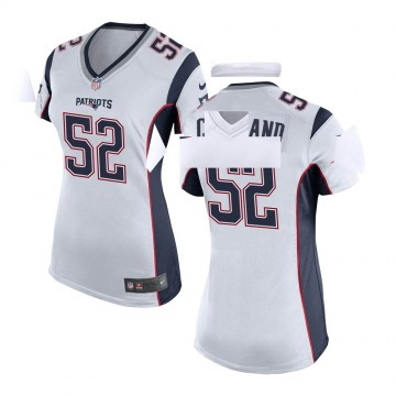 Women's Nike New England Patriots Brandon Copeland White Jersey - Game