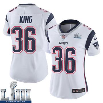 Women's Nike New England Patriots Brandon King White Super Bowl LIII Vapor Untouchable Jersey - Limited
