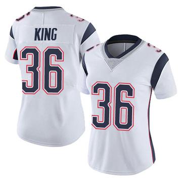 Women's Nike New England Patriots Brandon King White Vapor Untouchable Jersey - Limited