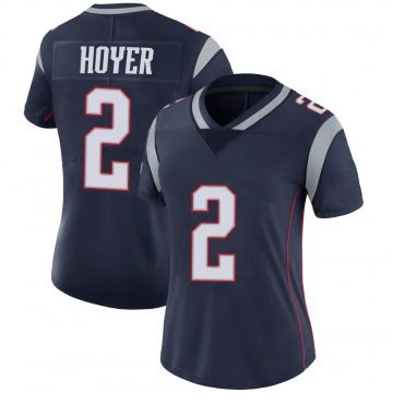 Women's Nike New England Patriots Brian Hoyer Navy 100th Vapor Jersey - Limited