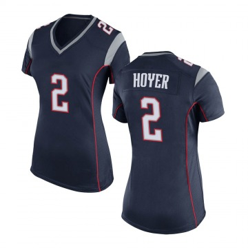 Women's Nike New England Patriots Brian Hoyer Navy Blue Team Color Jersey - Game