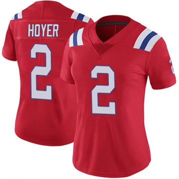 Women's Nike New England Patriots Brian Hoyer Red Vapor Untouchable Alternate Jersey - Limited