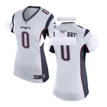 Women's Nike New England Patriots Brian Lewerke White Jersey - Game
