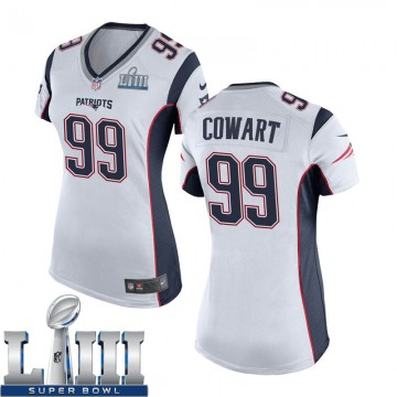 Women's Nike New England Patriots Byron Cowart White Super Bowl LIII Jersey - Game