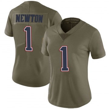 Women's Nike New England Patriots Cam Newton Green 2017 Salute to Service Jersey - Limited
