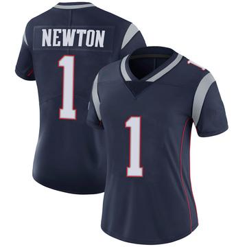 Women's Nike New England Patriots Cam Newton Navy 100th Vapor Jersey - Limited