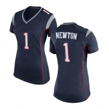 Women's Nike New England Patriots Cam Newton Navy Blue Team Color Jersey - Game