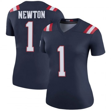 Women's Nike New England Patriots Cam Newton Navy Color Rush Jersey - Legend