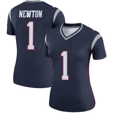Women's Nike New England Patriots Cam Newton Navy Jersey - Legend