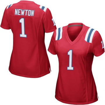 Women's Nike New England Patriots Cam Newton Red Alternate Jersey - Game