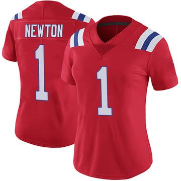 Women's Nike New England Patriots Cam Newton Red Vapor Untouchable Alternate Jersey - Limited