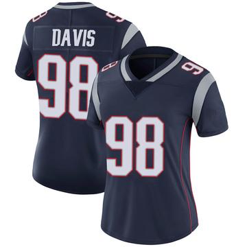 Women's Nike New England Patriots Carl Davis Navy 100th Vapor Jersey - Limited