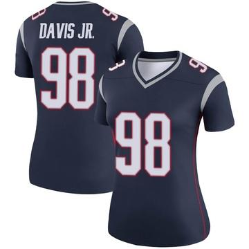Women's Nike New England Patriots Carl Davis Navy Jersey - Legend