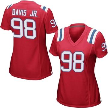 Women's Nike New England Patriots Carl Davis Red Alternate Jersey - Game