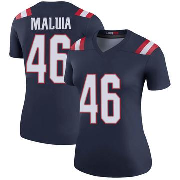 Women's Nike New England Patriots Cassh Maluia Navy Color Rush Jersey - Legend