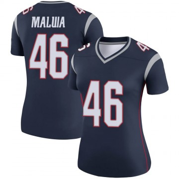 Women's Nike New England Patriots Cassh Maluia Navy Jersey - Legend