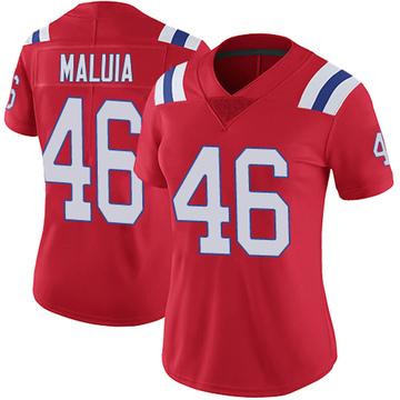 Women's Nike New England Patriots Cassh Maluia Red Vapor Untouchable Alternate Jersey - Limited