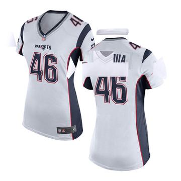 Women's Nike New England Patriots Cassh Maluia White Jersey - Game