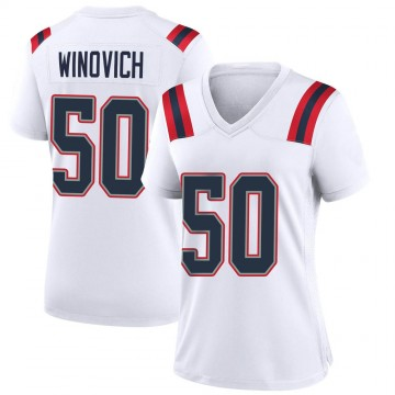 Women's Nike New England Patriots Chase Winovich White Jersey - Game