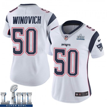 Women's Nike New England Patriots Chase Winovich White Super Bowl LIII Vapor Untouchable Jersey - Limited