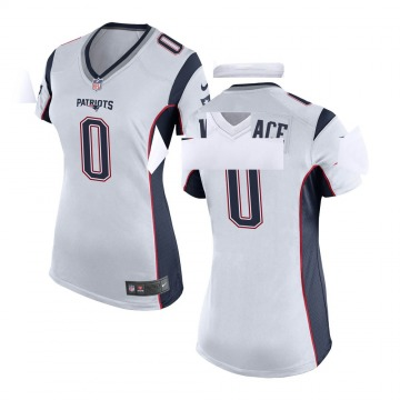 Women's Nike New England Patriots Courtney Wallace White Jersey - Game