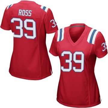 Women's Nike New England Patriots D'Angelo Ross Red Alternate Jersey - Game