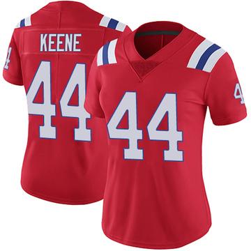 Women's Nike New England Patriots Dalton Keene Red Vapor Untouchable Alternate Jersey - Limited