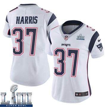 Women's Nike New England Patriots Damien Harris White Super Bowl LIII Vapor Untouchable Jersey - Limited