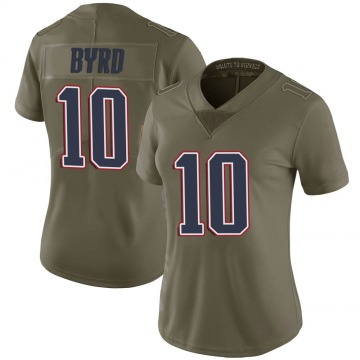 Women's Nike New England Patriots Damiere Byrd Green 2017 Salute to Service Jersey - Limited