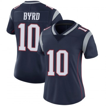 Women's Nike New England Patriots Damiere Byrd Navy 100th Vapor Jersey - Limited