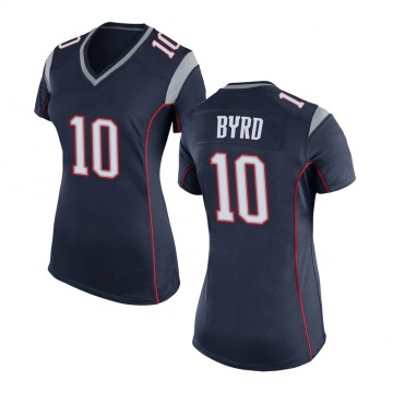 Women's Nike New England Patriots Damiere Byrd Navy Blue Team Color Jersey - Game