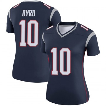 Women's Nike New England Patriots Damiere Byrd Navy Jersey - Legend