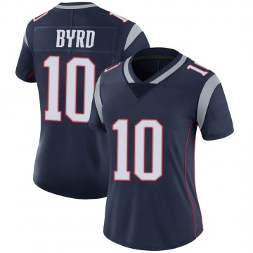 Women's Nike New England Patriots Damiere Byrd Navy Team Color Vapor Untouchable Jersey - Limited