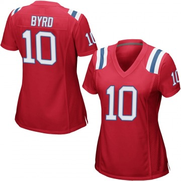 Women's Nike New England Patriots Damiere Byrd Red Alternate Jersey - Game