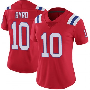 Women's Nike New England Patriots Damiere Byrd Red Vapor Untouchable Alternate Jersey - Limited